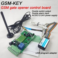 Wholesale GSM KEY DC200 Two relay output and two alarm input port GSM gate opener remote control board