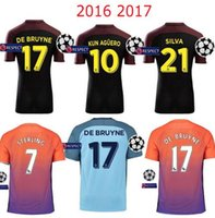 anti stone - new Champions League Edition Soccer jersey KUN AGUERO home and away STONES DE BRUYNE jersey football shirts survetement
