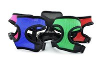 Wholesale 50PCS colors high quality Soft Air mesh Dog Harness Puppy Pet Harness nylon mesh harness Dog Collars D559