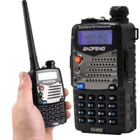 Wholesale Baofeng UV RA Handheld Dual Band Walkie Talkie W W High Low Power Switchable VHF UHF with Battery Saving