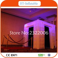advertising tents - 2016 Hot Selling Lighting Oxford Cloth Portable Inflatable Photo Booth Advertising Cube Inflatable LED Tent