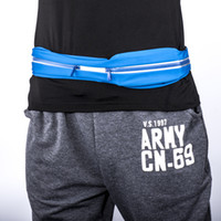 Wholesale outdoor Waist Bag adjustable elastic Pocket Waist Bag camping hiking multi functional Pack Running Belt with headphone cable hole