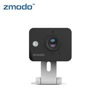 al por mayor zmodo cámaras inalámbricas-Ajustable Zmodo ZP-IBH13-W DC 12V 0.5A 720P 30fps alarma Funtion red de Wifi Wireless cámara de seguridad IP cámara webcam