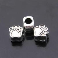 Wholesale New Arrival Large Hole Loose Beads Bear Paw Shape Charming Beads EBD014