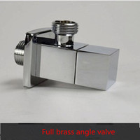Wholesale Whole Copper Thickening Ceramic Core Brass Chrome Filling Angle Shower Mixer Valve Accessories Wall Connectors