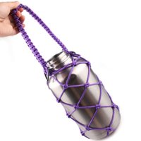 Wholesale Handmade Paracord flask Handles outdoor camping survival handles Plastic water bottle handles