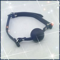 Wholesale Leather Restraints Silicon Ball Mouth Gag Silicon Ball Gag Adult Games For Couples Bondage Sex Products Sex Products