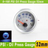 Precio de Pressure sensor-Psi de presión de aceite del metro del calibrador de 52 mm con el sensor 0 ~ 100 Typer Auto indicador de aceite de automóvil Presione indicador de aceite metro del coche universal medidor de presión