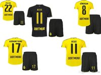 Wholesale 20116 Borussia Dortmundce kit home away Jerseys Dortmund adult Coat pants Jerseys REUS GUNDOGAN PULISC Borussia Dortmund jersey