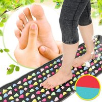 acupuncture mat - Medialbranch Colorful Plastic Foot Massager Pad Acupuncture Cobblestone Yoga Mat health care foot body massager cm