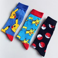 Wholesale Poke Pika Pocket Monster Stockings Squirtle Charmander Hosiery Cotton Socks Unisex Fashion Cartoon Socks