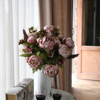 artificial flowers retail - And Retail Women Wedding Artificial Flowers Made Of PU Material Home Decor Flower Bouquet Home Decorations