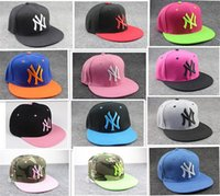 baseball hats store - 50pcs Hip hop Hat Christmas Gifts Men and Women Ball Caps NY snapbacks Baseball Caps Snapbacks Hats Adjustable Cap D338 Store wide Disc