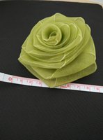 Wholesale handmade Chiffon tulle flowers inches large colors artificial flowers to make bride sashes wrist corsage chair cover