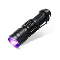 Cheap New Mini Rechargebable Led Flashlights 365nm 395nm Torch Lamp Blacklight Light Cree Torcia uv Charge Linterna