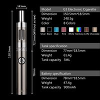 authentic handbags wholesale - Authentic G3 vape cigarette mah ecig Mods ohm Glass tank E cigarette Kits with PU handbag