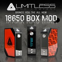 Wholesale Newest iJOy Limitless W Box mod uses batteries Limitless LMC Box Best Quality with interchangeable plates in stock