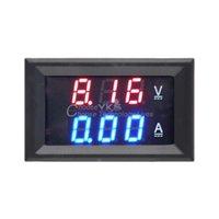 Wholesale zc15400 dc amp gauge DC V A Voltmeter Ammeter Blue Red LED Amp Dual Digital Volt Meter Gauge ammeter