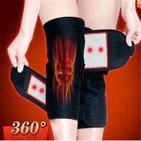 Wholesale New Hot Sale Tourmaline self heating kneepad Magnetic Therapy knee support tourmaline heating Belt knee Massager