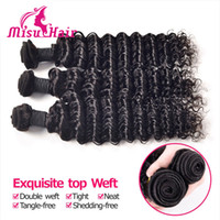 best natural hair color products - Best Texture Deep Wave Curly Hair Weft Brazilian Unprocessed Hair Weave Human Hair Extensions g bundle Misu Hair Products