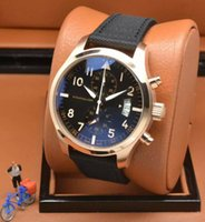 advanced watches - 2015 Hot AAA watch Portuguese style men s PVD Case Advanced nylon strap Multifunction Stop watches IW