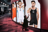 Wholesale M XL New Fashion Brand Strong Men Breathable Teddy Bodysuit Lingerie Freely Sport Undershirt Leotard Guy Male Sexy Workout Underwear Catsuit