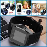 Cheap Smart Watch Bluetooth M26 Smartwatch Apple IWatch Support SIM TF Card Smart Wrist Watch With Silicone Strap Smartphone
