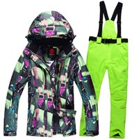 Wholesale Ski Suits Women s Jacket Pants Snowboard Clothes Snowboarding Skiing Jackets Sports Waterproof Windproof Breathable