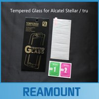 alcatel screen protector - 50pcs h hard Tempered Glass film Explosion Proof Screen Protector for alcatel stellar tru film with retail box