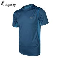 Wholesale Outdoor Sports Style Men Quick Drying T Shirt Jogging Fitness Clothing Colors