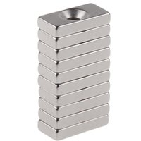 Wholesale 10pcs x10x4mm Magnetic Super Strong Block Magnets Silver Color x10x4mm Hole mm Neodymium N50