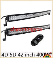 Wholesale YOO D D inch W Curved LED Work Light Bar for Tractor Boat OffRoad WD x4 Truck SUV ATV Combo with Switch Wiring