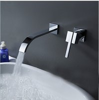 Wholesale BECOLA Wallmounted washbasin water tap piece set flush faucet cabinet mixer bathroom hot and cold water faucet LT