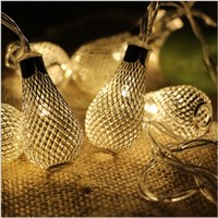 Wholesale LED Hollow Bulb Fairy Light Christmas Garland String Light led Battery Operated Garland Xmas Wedding Birthday Home Decor
