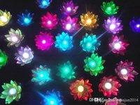 Voler 100PCS lanterne souhaitant lanternes chinoises Floating Garden Eau / étang artificiel lampe de fleur de lotus Wishing Parti lampe de Noël