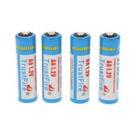 Wholesale 4pcs mAh NI MH V TrustFire Rechargeable AA Batteries with Storage Case High Quality