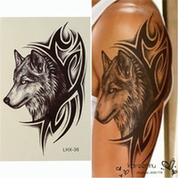 best neck tattoos - Best Price Fashion Wolf Head Waterproof Nontoxic Temporary Tattoo Body Arm Leg Art Sticker Removable x cm