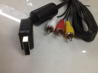 Wholesale Hot Sale Feet Audio Video AV Cable cord to RCA for Sony PlayStation PS2 PlayStation PS3 Free DHL Shipping