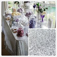 available servers - Cheap Silver Rectangle Sequin Tablecloth for event party holiday sparkle table cloths x80 Inch Many colors available