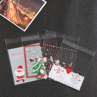 Precio de Bolsas de plástico para alimentos-500PCS Feliz Navidad de la galleta de la galleta de plástico bolsas de celofán Bolsas Copia de Alimentos caramelo de embalaje auto-adhesivo de OPP Bolsas de calidad alimentaria