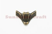 antique furniture feet - 50pcs MM Antique furniture foot alloy foot box four corners decorative feet