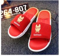 batman sandals - 2016 New fashion Summer hot Sandals Captain America Sandals Iron Man Sandals Superman Sandals Batman Sandals