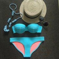bella swimsuits - new bella REAL NEOPRENE BIKINI SET REALTriangle BRAND sexy bikinis swimsuit Bikini PUSH UP Top Bottom gift box