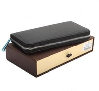 american key boxes - 1 High quality leather wallet new short wallet women Genuine leather Wallet Mens Wallets Black Brown card wallet With Original box