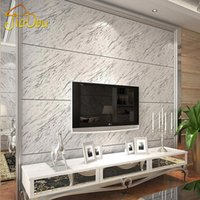 bathroom marble walls - Vintage Stripe Marble Stone Matt Light Vinyl Wall Paper Waterproof Eco friendly PVC Wallpaper For Kitchen bathroom Living Room