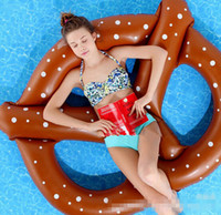 Wholesale Swimming Pool toys Bread swimming ring inflatable pool float Donut Pool Inflatable Floats pool toys D405