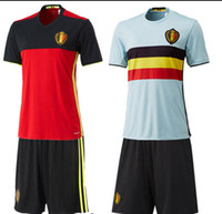 Wholesale 15 euro Belgian national team jersey home and away long sleeve football jerseys training suit