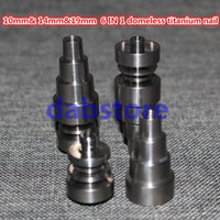 baseball machines - Hot in domeless titanium nails mm mm mm joint baseball or gentleman styled carb cap set with male and female joint