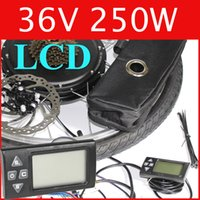 Wholesale 36V W LCD Electric Bike Disc brake kit DC hub motor conversion kits ebike kits Front wheel or rear wheel
