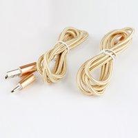 1M 3FT Charge rapide USB 2.0 Type C Câble Tissu tissé Cordon tressé Data Sync Charge Tête métallique